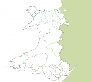Listed Windmills in Wales map